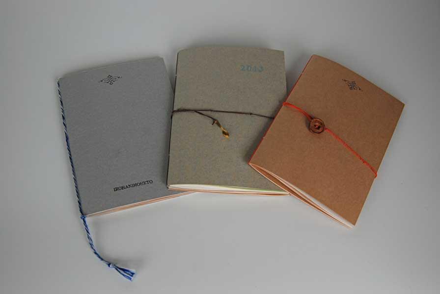 活版印刷で刷る糸綴じノート